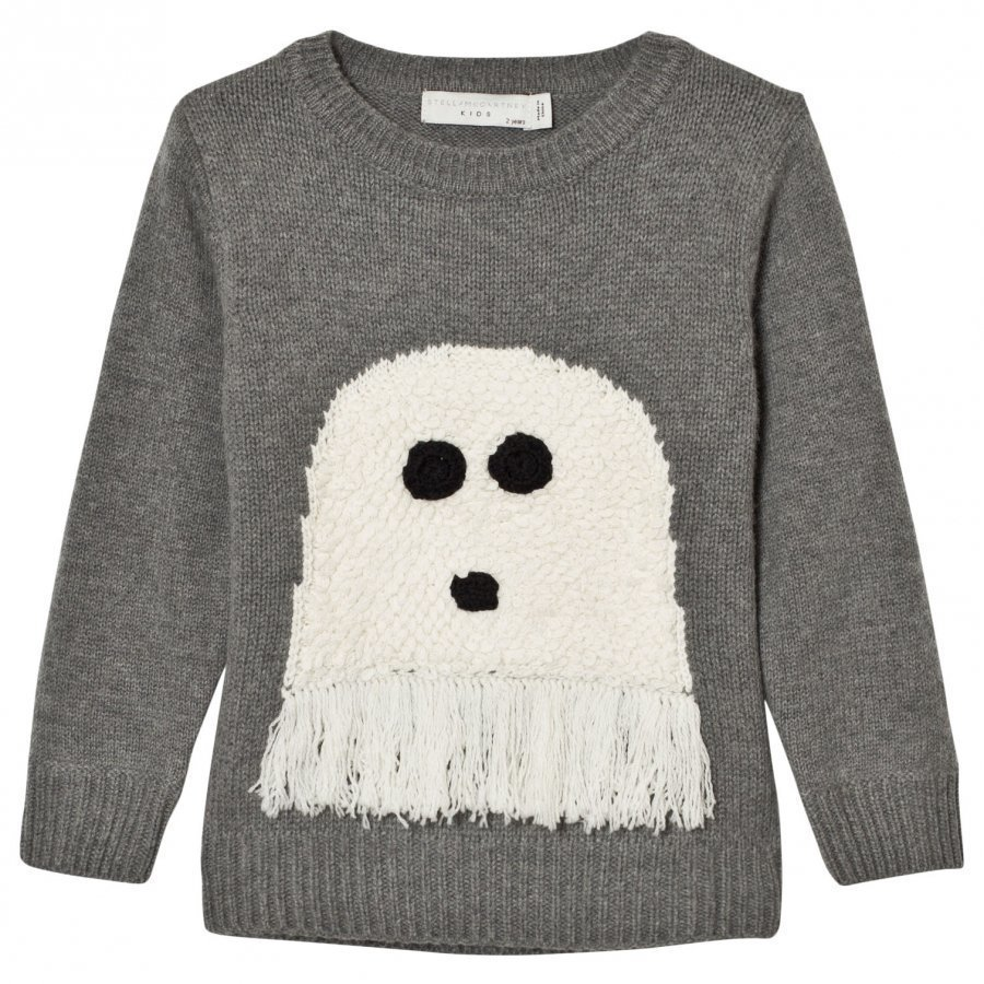 Stella Mccartney Kids Grey Ghost Intarsia Jumper Paita