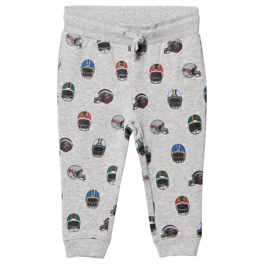 Stella Mccartney Kids Grey Helmets Print Zachary Sweat Pants Verryttelyhousut