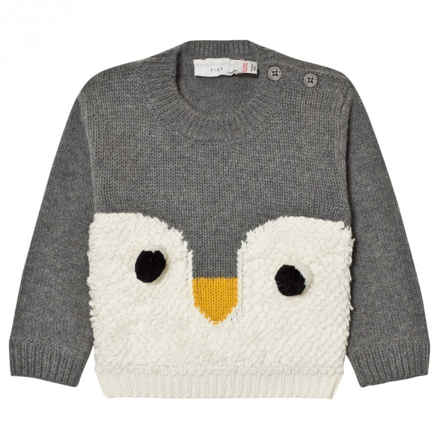 Stella Mccartney Kids Grey Ira Knit Penguin Jumper Paita