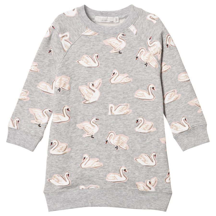 Stella Mccartney Kids Grey Leona Swan Dress Mekko