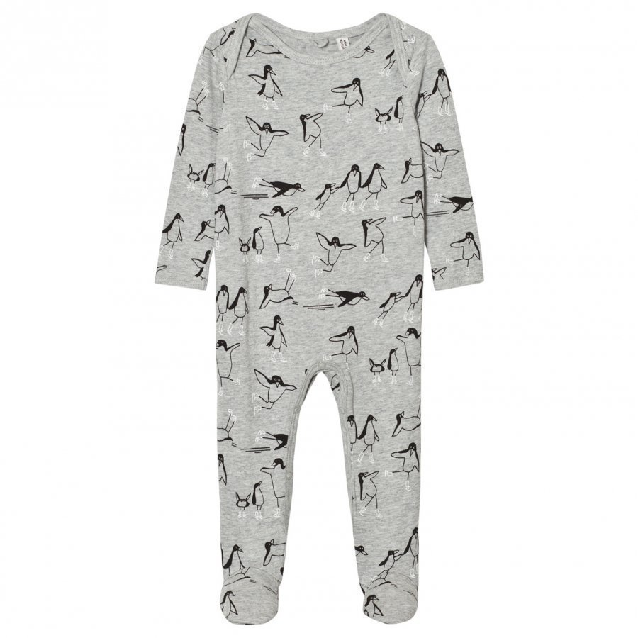 Stella Mccartney Kids Grey Penguin Footed Baby Body