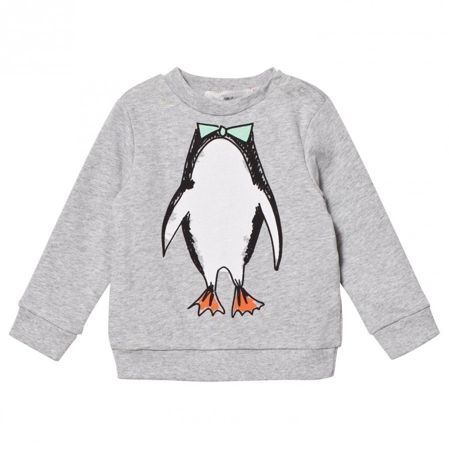 Stella Mccartney Kids Grey Penguin Print Sweatshirt Oloasun Paita