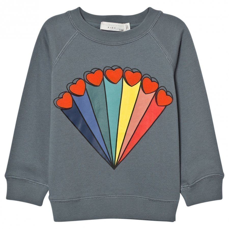 Stella Mccartney Kids Grey Rainbow Print Sweater Oloasun Paita