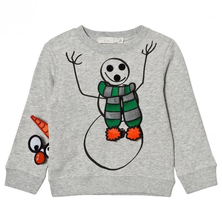 Stella Mccartney Kids Grey Snowman Print Biz Sweatshirt Oloasun Paita