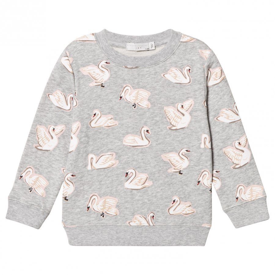 Stella Mccartney Kids Grey Swan Print Betty Sweatshirt Oloasun Paita