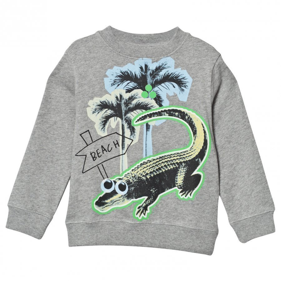 Stella Mccartney Kids Grey Sweater Crocodile Print Oloasun Paita