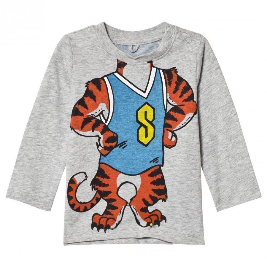 Stella Mccartney Kids Grey Tiger Print Georgie Tee T-Paita