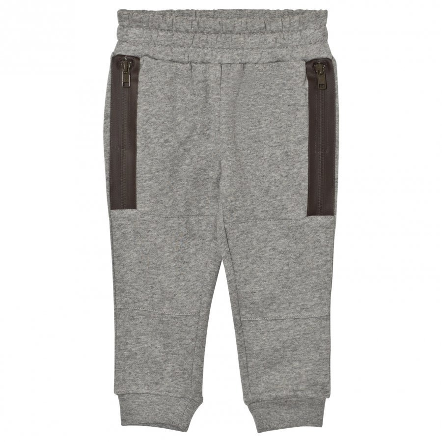 Stella Mccartney Kids Grey Zip Detail Spike Sweat Pants Verryttelyhousut