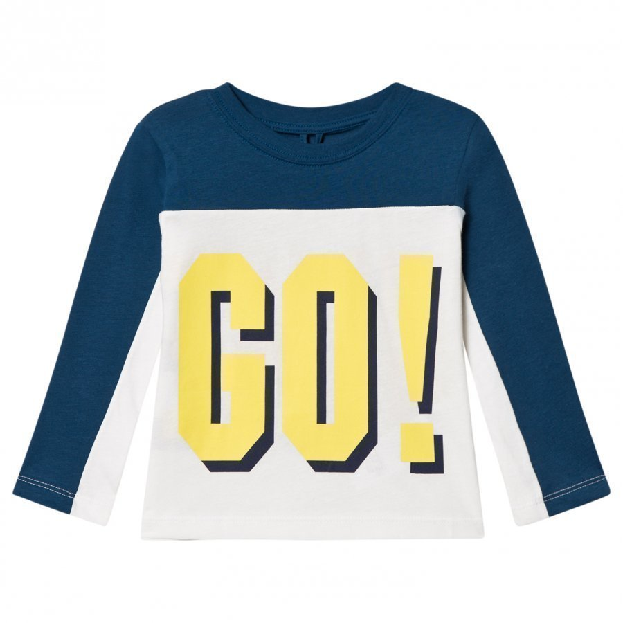 Stella Mccartney Kids Harp Go Hike T-Shirt White And Blue T-Paita
