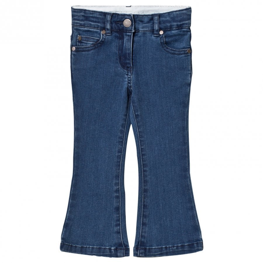 Stella Mccartney Kids Mid Wash Denim Flare Jeans Farkut