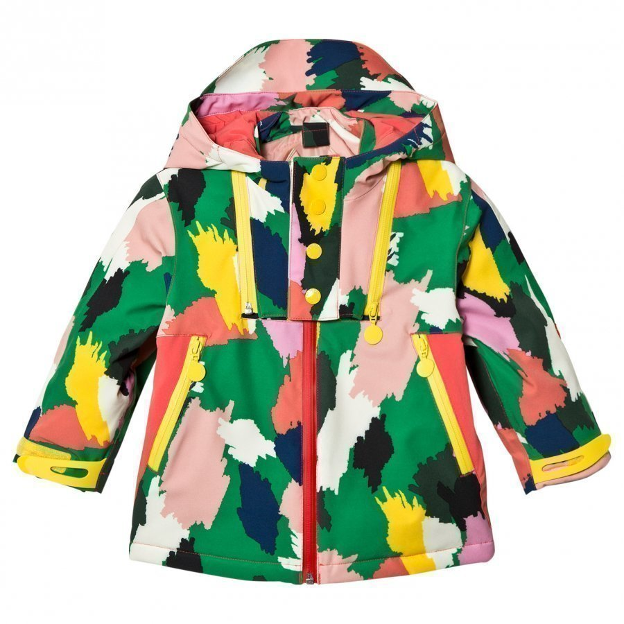 Stella Mccartney Kids Multi Camo Rocket Ski Jacket Toppatakki