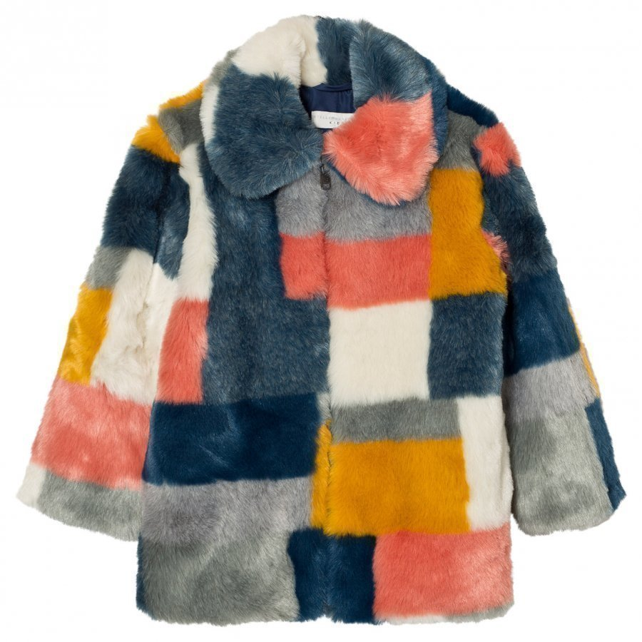 Stella Mccartney Kids Multi Colour Faux Fur Abbie Coat Turkis