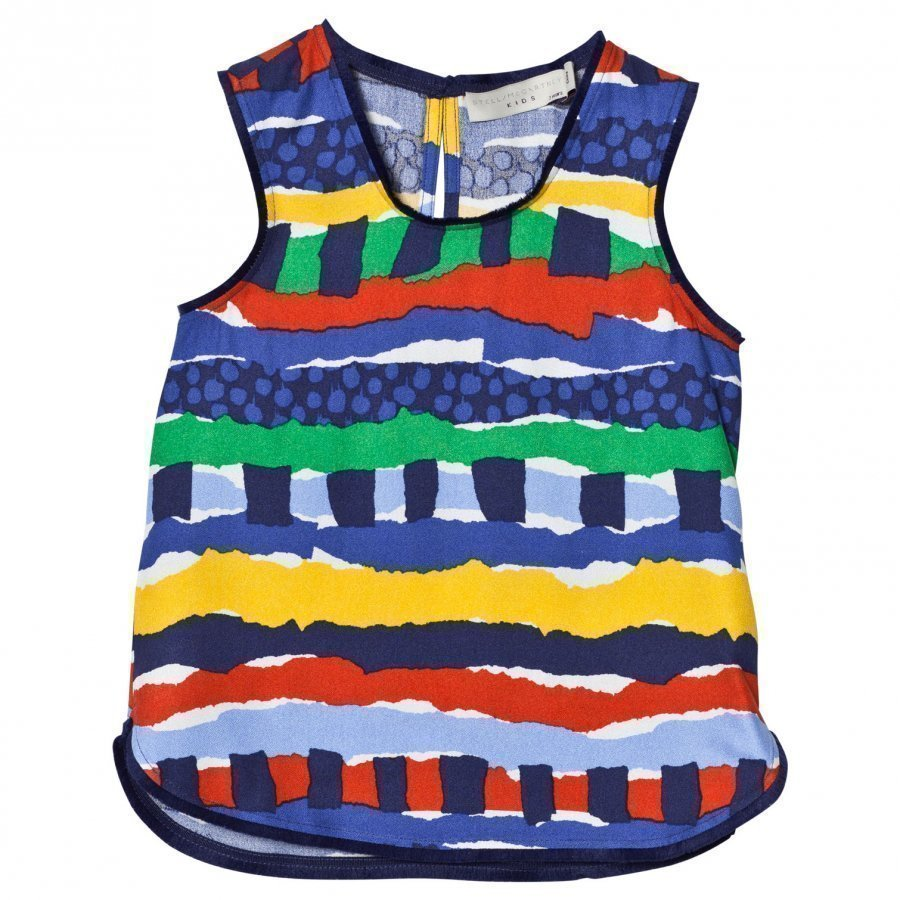 Stella Mccartney Kids Multi Rag Print Top Liivi