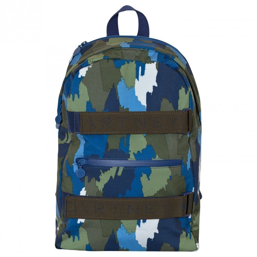 Stella Mccartney Kids Navy Camo Ski Backpack Reppu
