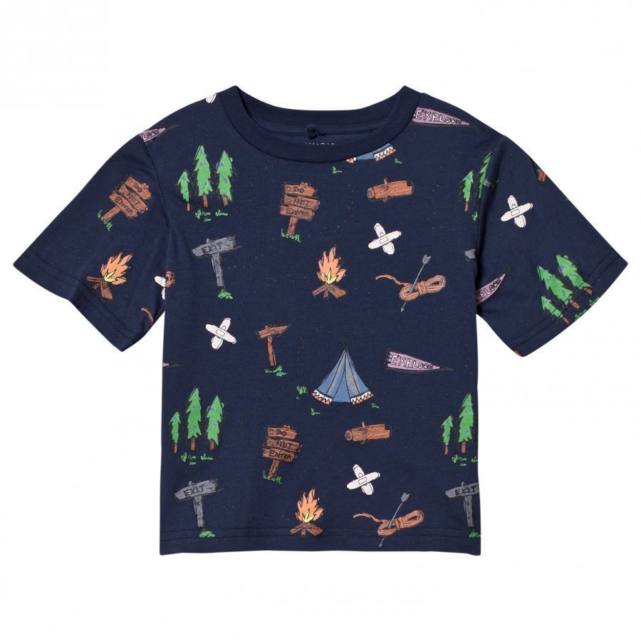 Stella Mccartney Kids Navy Explorer Arrow Tee T-Paita