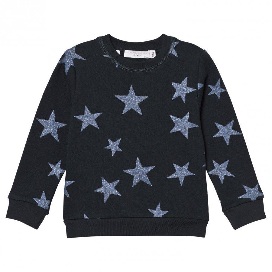 Stella Mccartney Kids Navy Glitter Star Print Sweatshirt Oloasun Paita