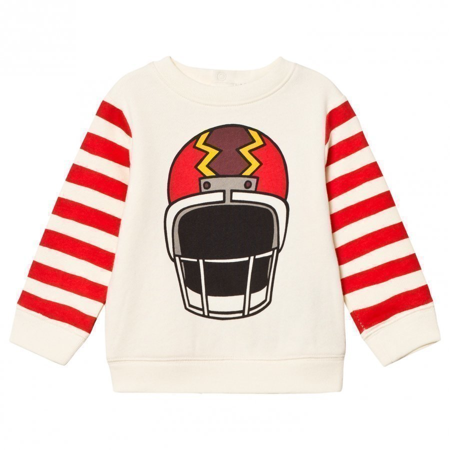Stella Mccartney Kids Off-White Helmet Print Sweatshirt Oloasun Paita