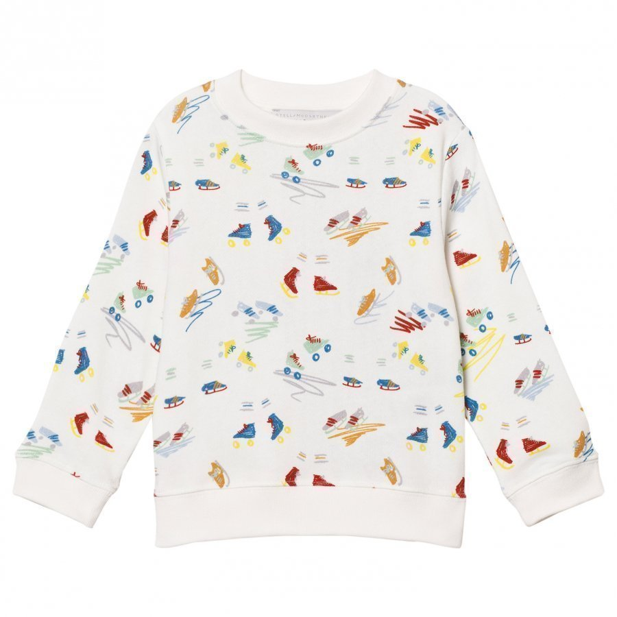 Stella Mccartney Kids Off White Scribbles And Skate Print Sweatshirt Oloasun Paita