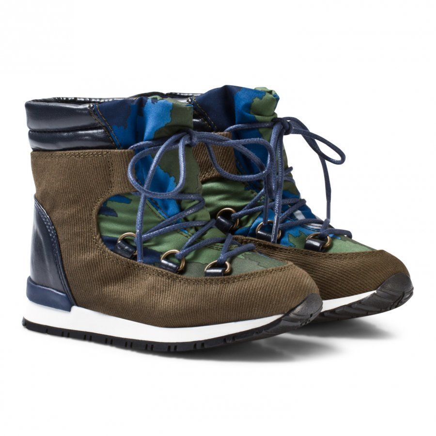 Stella Mccartney Kids Olive Navy Ski Boots Talvisaappaat