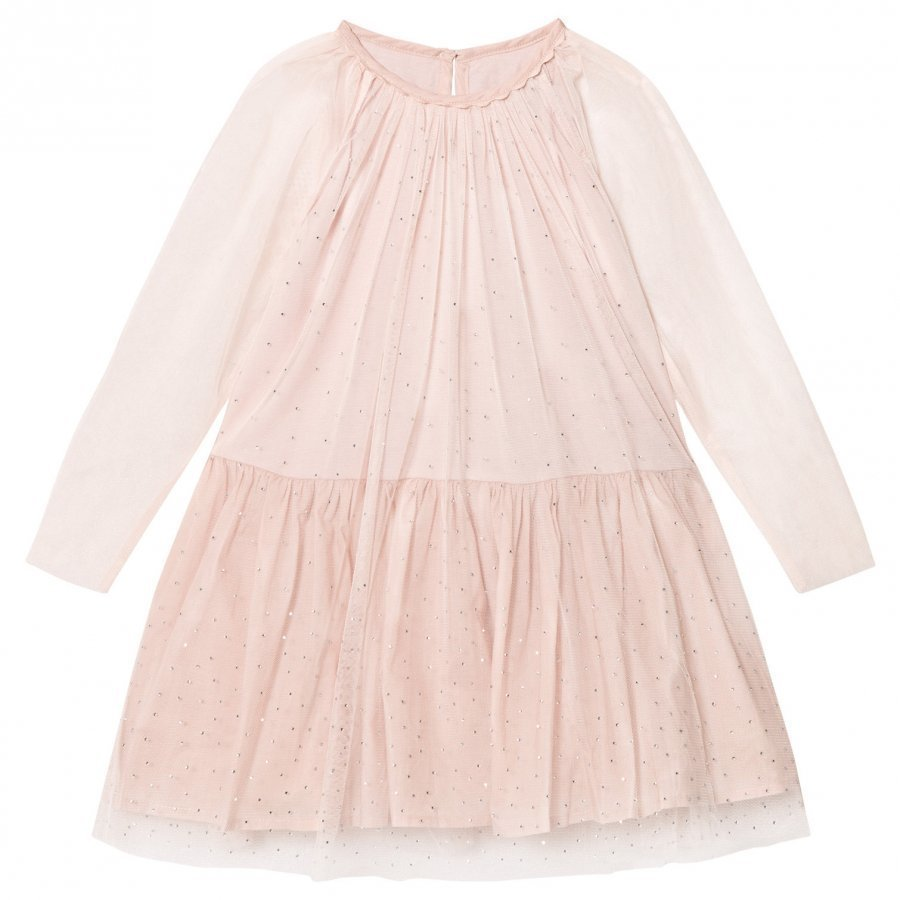 Stella Mccartney Kids Pale Pink Misty Hotfix Dress Juhlamekko