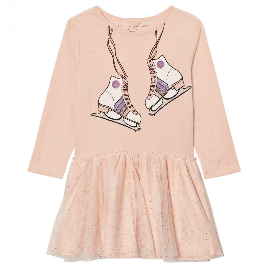 Stella Mccartney Kids Pale Pink Skate Primrose Dress Juhlamekko