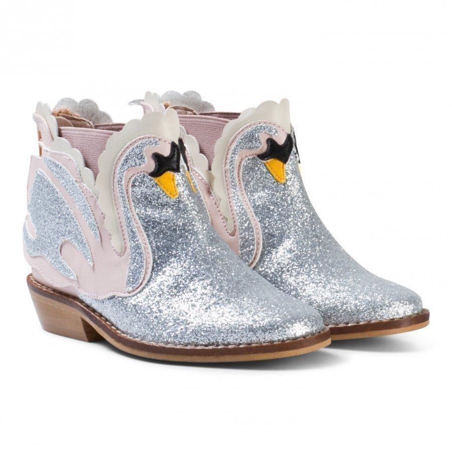 Stella Mccartney Kids Pale Pink Swan Lily Boots Nilkkurit
