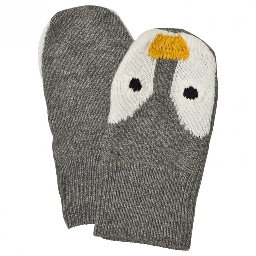 Stella Mccartney Kids Penguin Knit Mittens Villalapaset