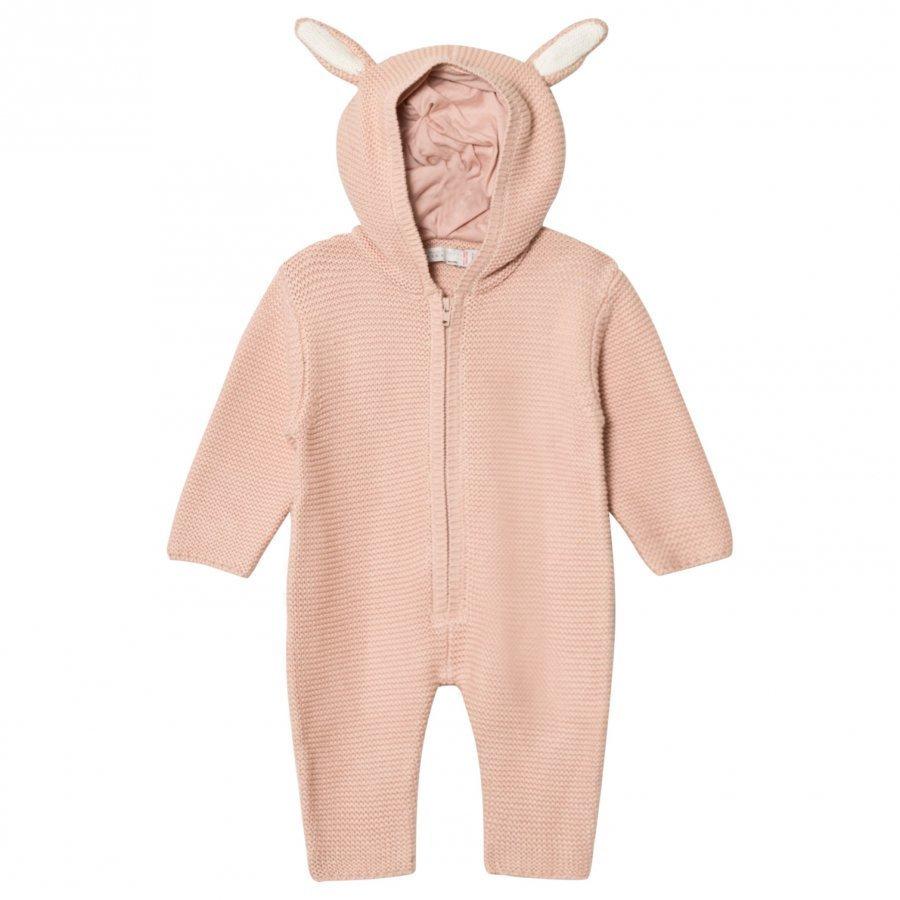 Stella Mccartney Kids Pink Acorn Knit Onesie Kokopuku