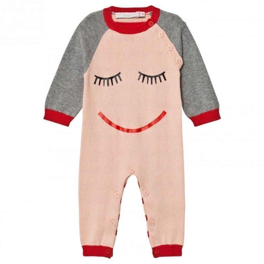 Stella Mccartney Kids Pink Face Knit Tommy One-Piece Body