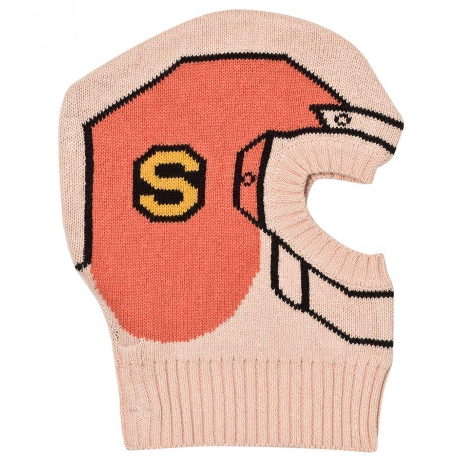 Stella Mccartney Kids Pink Helmet Intarsia Hat Pipo