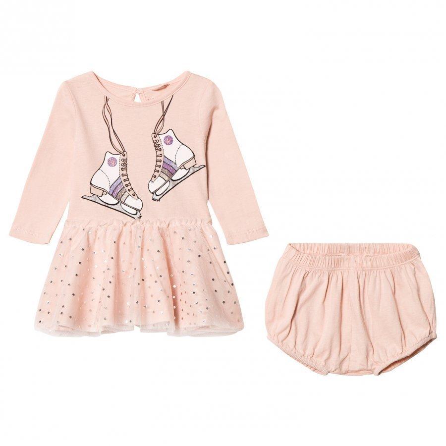 Stella Mccartney Kids Pink Skate Print Primrose Dress With Bloomers Set Mekko
