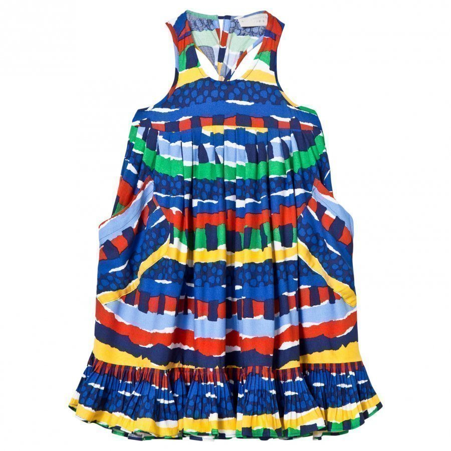 Stella Mccartney Kids Poco Dress Multi Rag Print Mekko