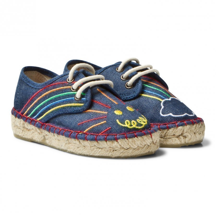 Stella Mccartney Kids Rae Denim Espadrilles Embroidery Espadrillot