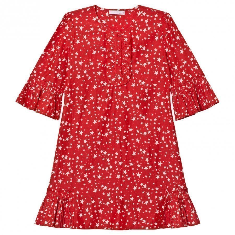Stella Mccartney Kids Red Christmas Print Abbie Dress Juhlamekko