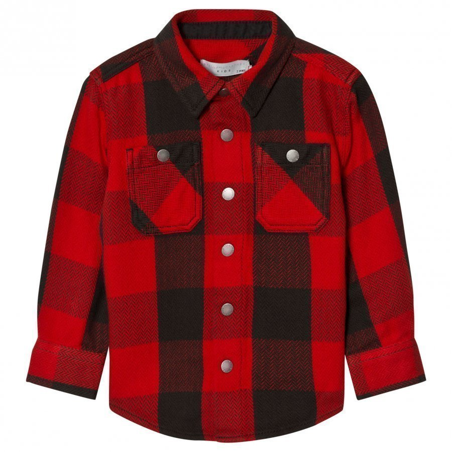 Stella Mccartney Kids Red Melvil Check Shirt Kauluspaita
