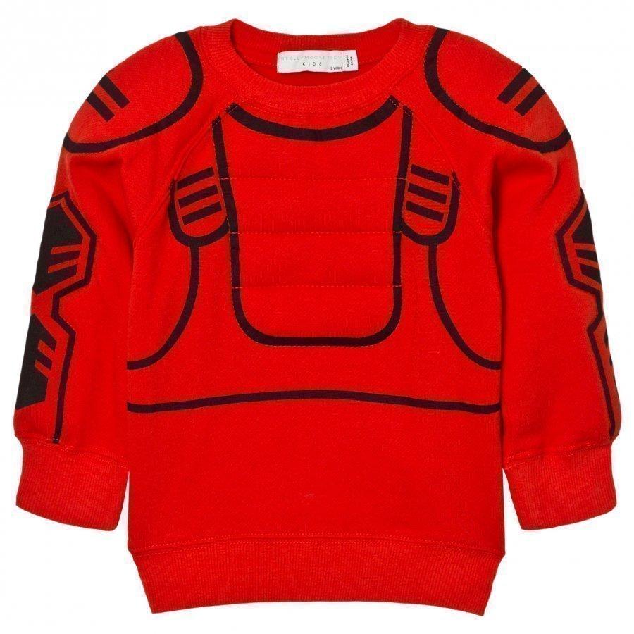 Stella Mccartney Kids Red Rowbow Robot Sweatshirt Oloasun Paita