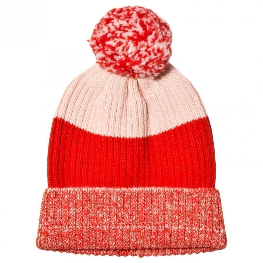 Stella Mccartney Kids Red Tweddle Pom Pom Hat Villahuivi