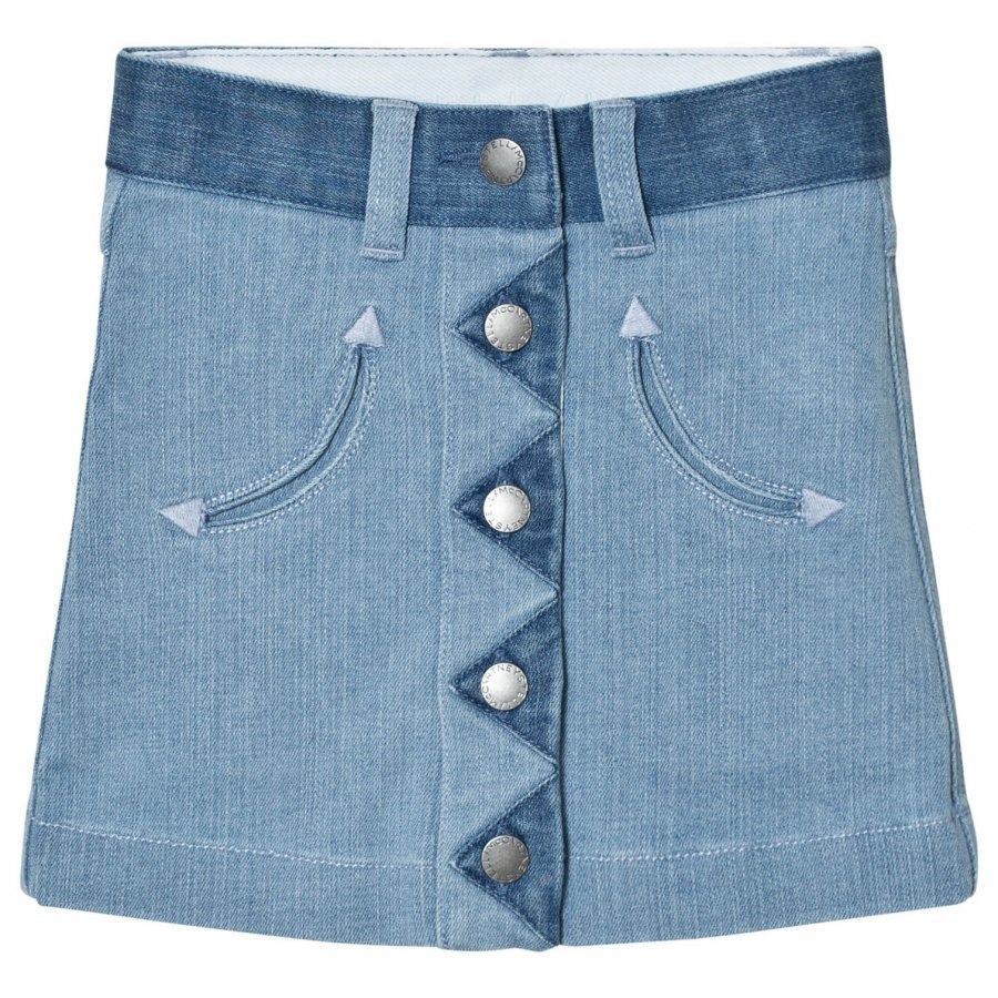 Stella Mccartney Kids River Denim Button Skirt Lyhyt Hame