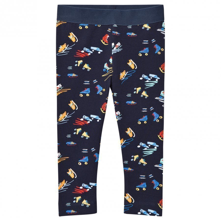 Stella Mccartney Kids Scribble And Skate Print Tula Leggings Legginsit