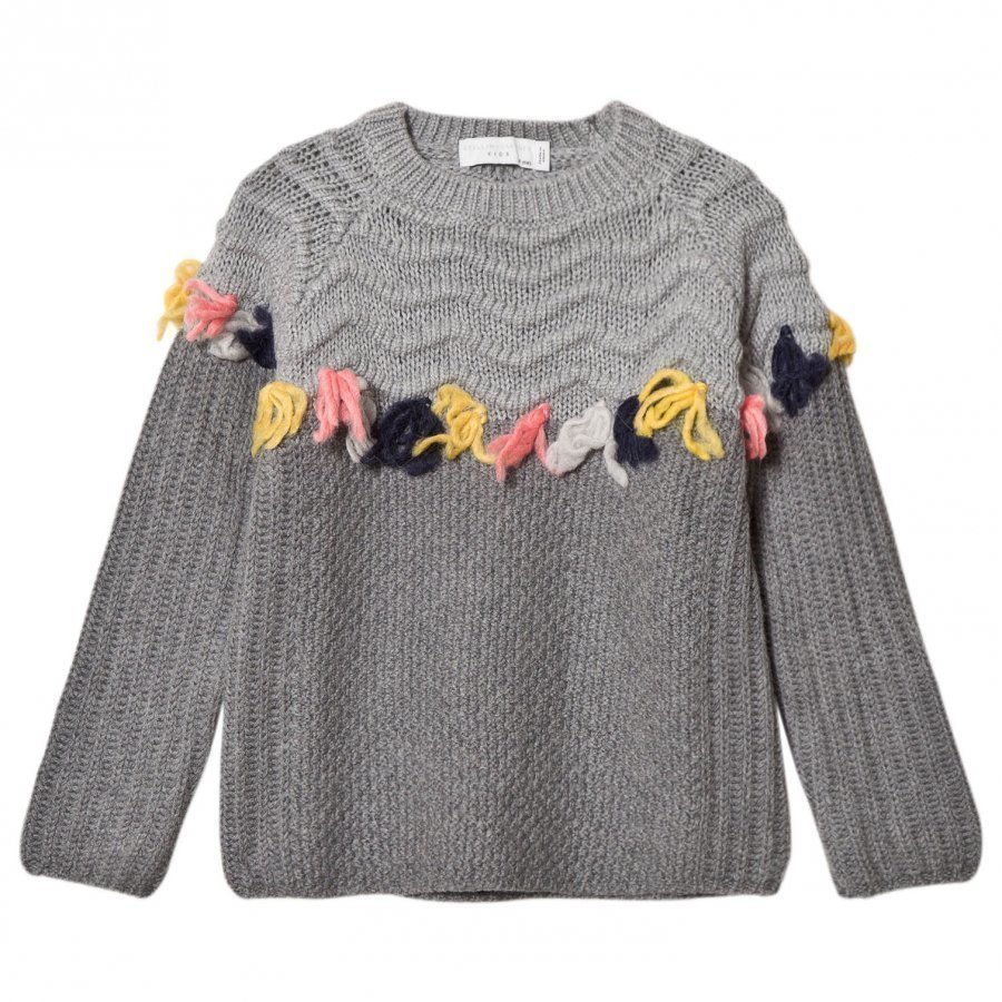 Stella Mccartney Kids Tangerine Grey Tassel Jumper Paita