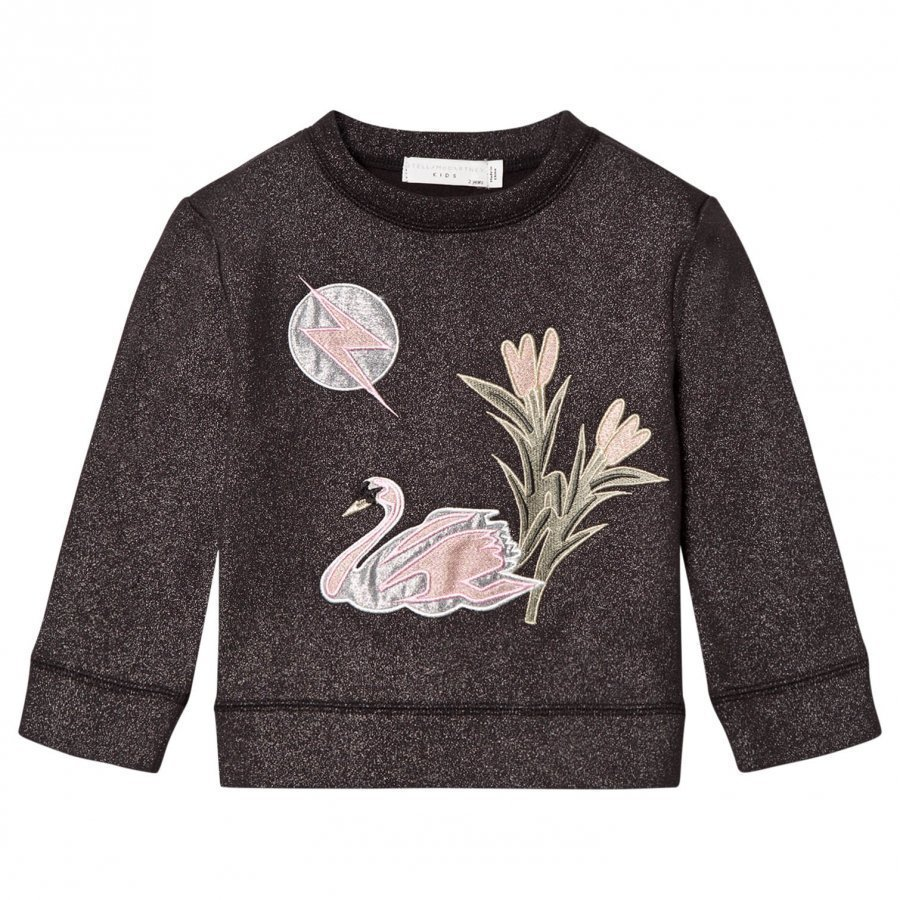 Stella Mccartney Kids Valeria Swan Appliqué Sweater Dark Grey Oloasun Paita