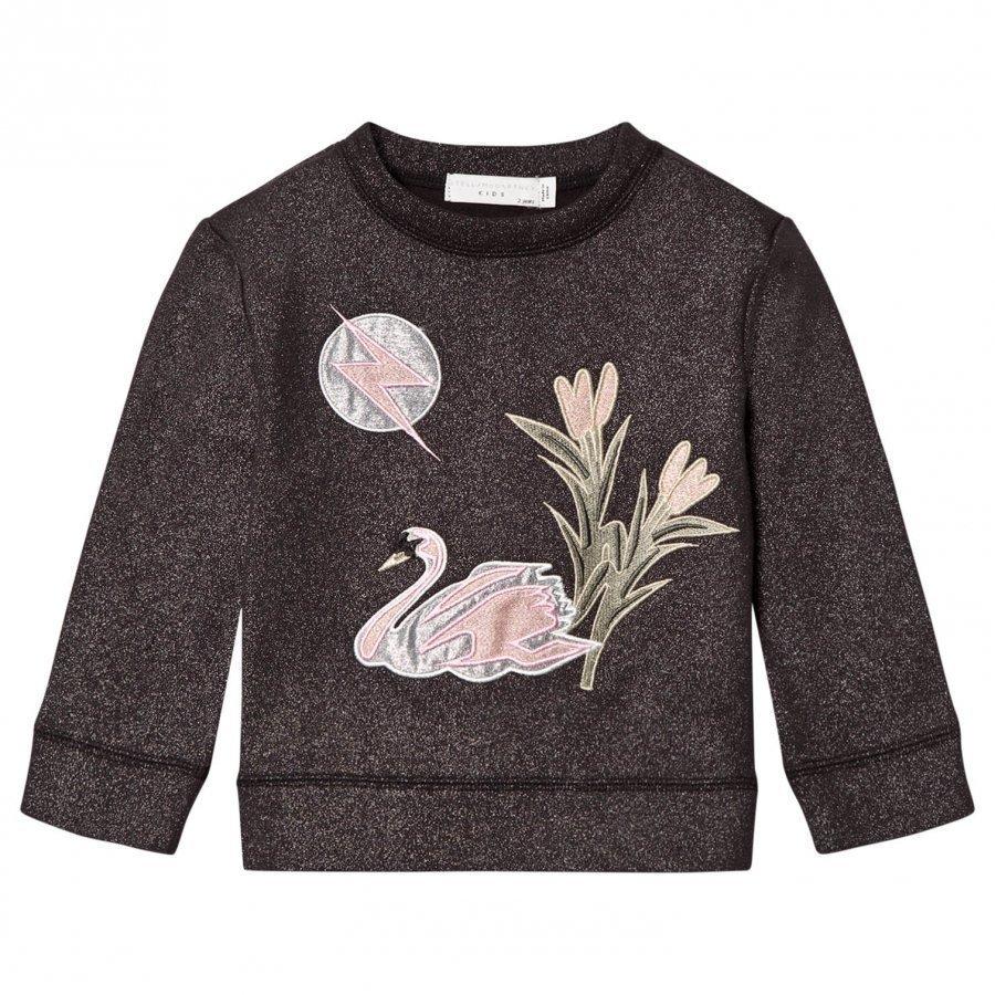 Stella Mccartney Kids Valeria Swan Appliqué Sweater Dark Grey Oloasun Paita