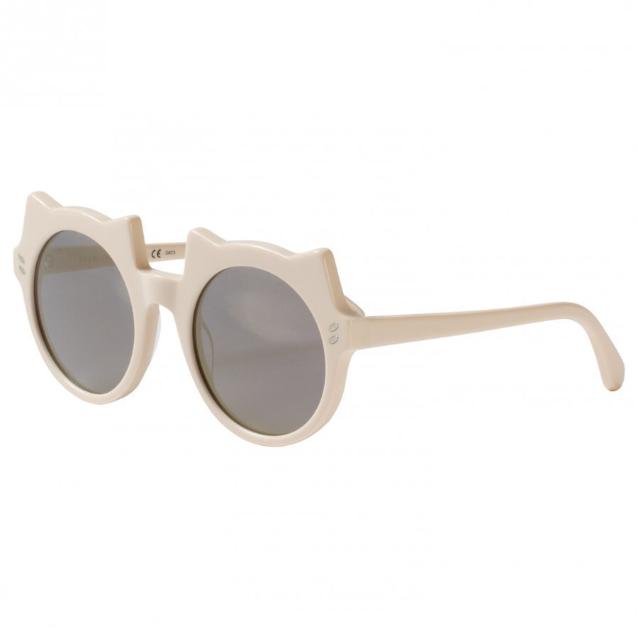Stella Mccartney Kids White And Gold Kitten Shape Sunglasses Aurinkolasit