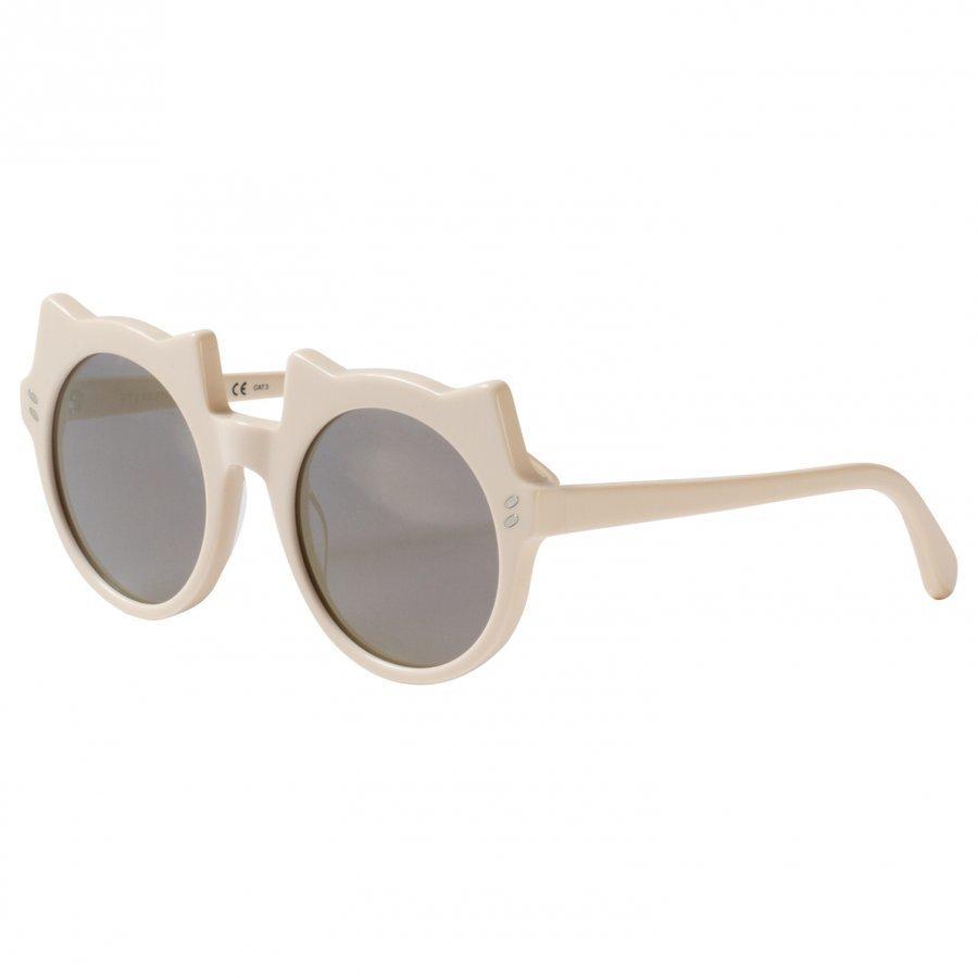Stella Mccartney Kids White And Gold Kitten Shape Sunglasses Aurinkolasit