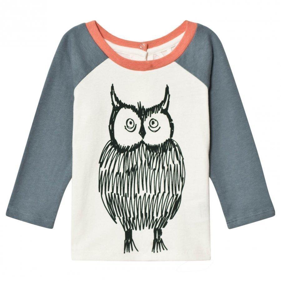 Stella Mccartney Kids White Owl Print Izzy Tee T-Paita