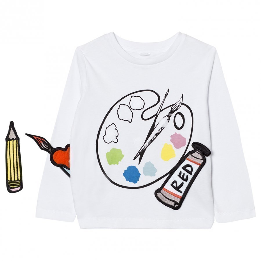 Stella Mccartney Kids White Paint Palette Bella Tee T-Paita
