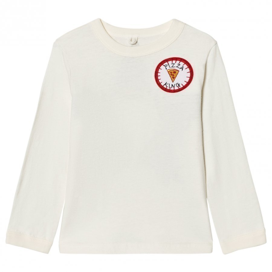 Stella Mccartney Kids White Pizza Print Gene Tee T-Paita