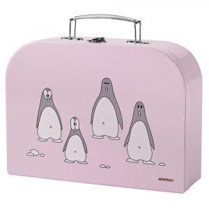Stelton Penguin Lasten Aterimet 3-Osainen Roosa