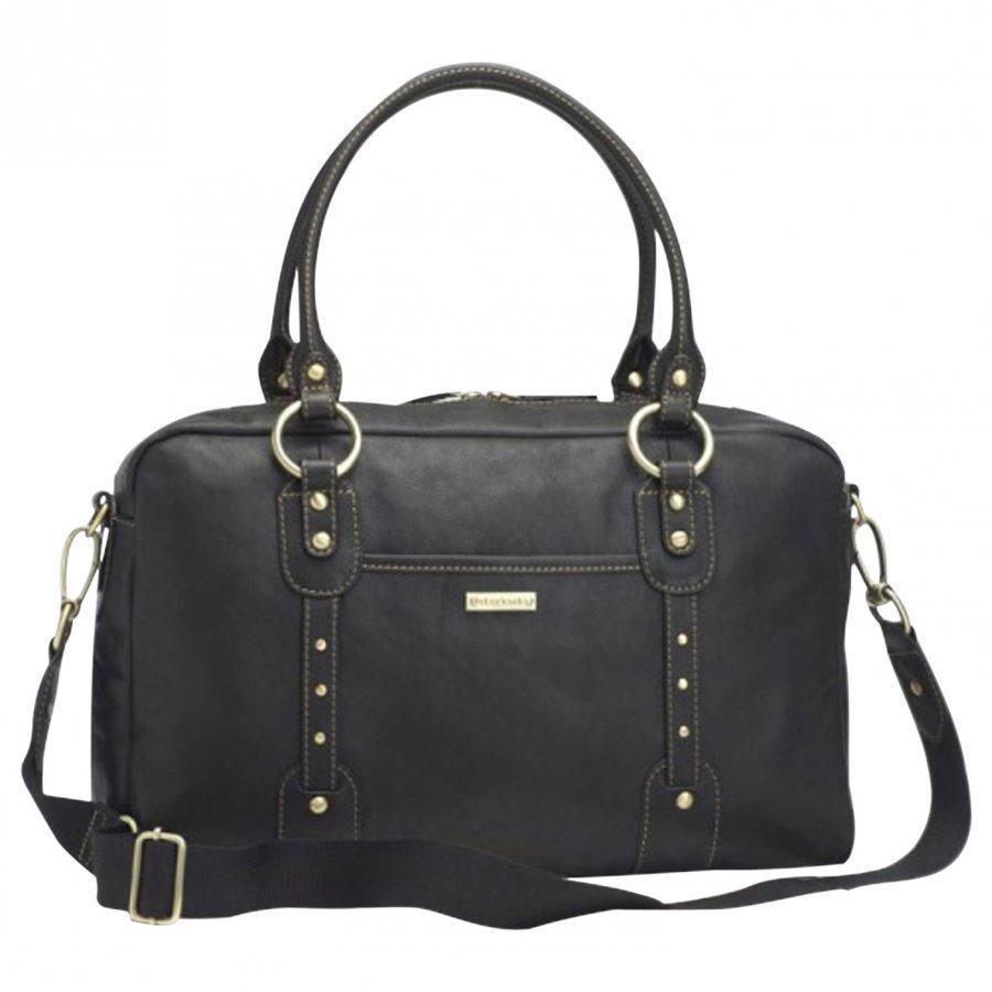 Storksak Elizabeth Leather Diaper Bag Black Hoitolaukku
