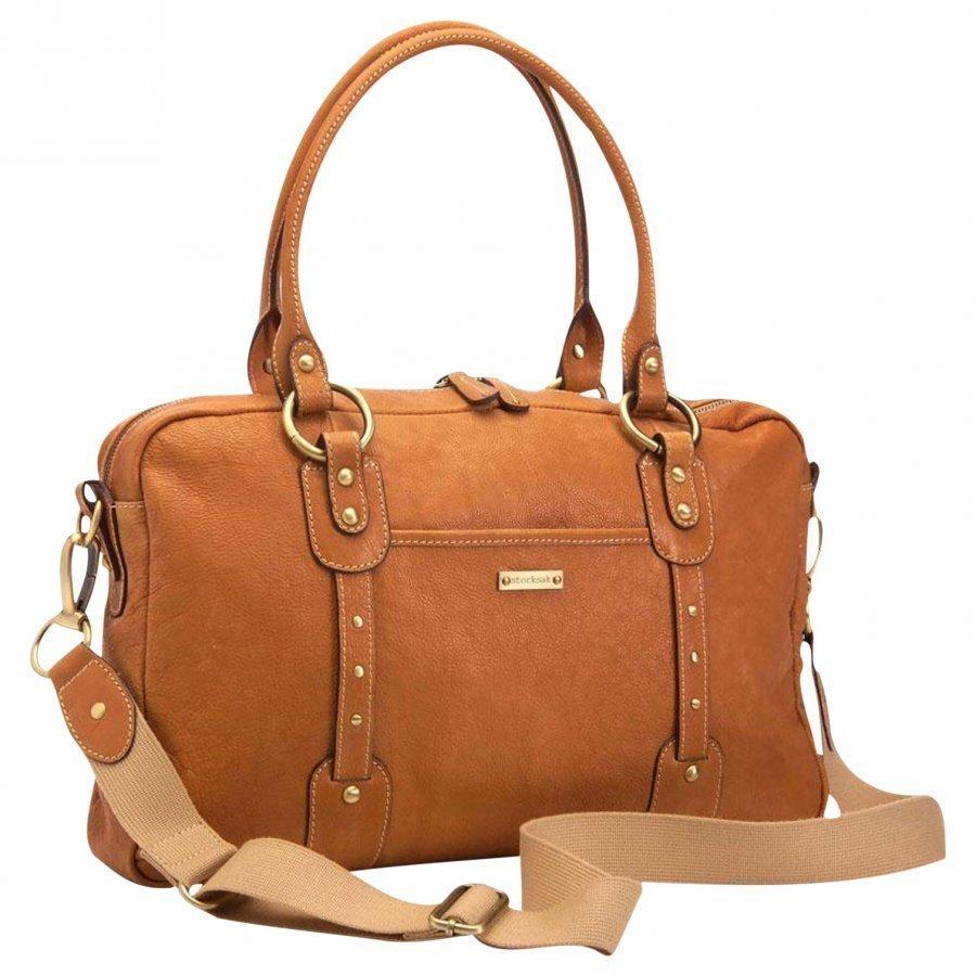 Storksak Elizabeth Leather Diaper Bag Tan Hoitolaukku